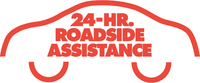 road assistance car red